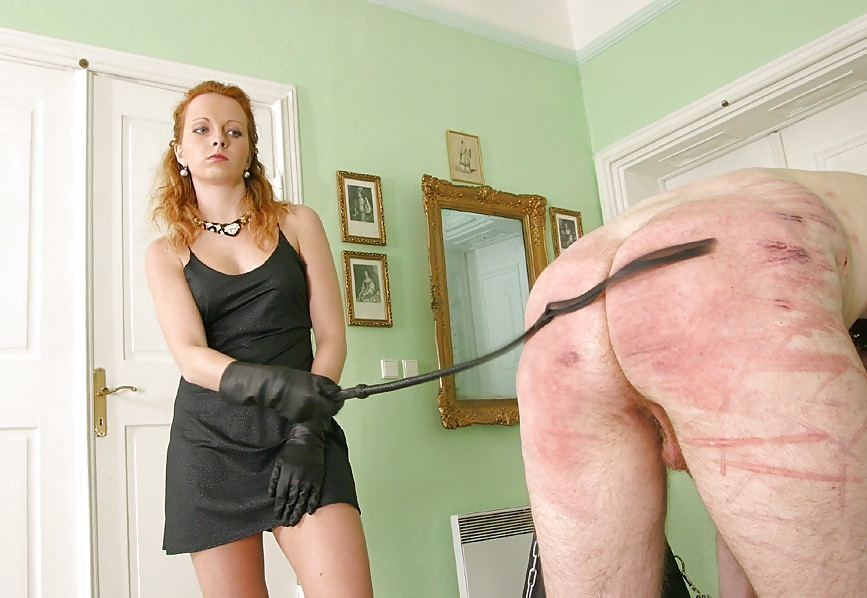 Femdom cuckold humiliation spanking picture